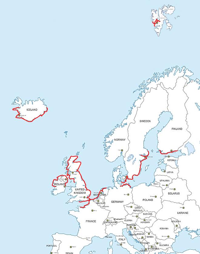 map avec parcours
